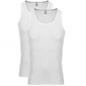 G Star Raw 2 Pack Vest T Shirt White